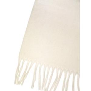 BEGG&CO【ベグ アンド コー】マフラー Arran Plain WHITE カシミア ホワイト|cinqueclassico|03