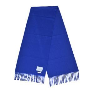 BEGG&CO【ベグ アンド コー】マフラー Arran Plain Sapphire カシミヤ ブルー|cinqueclassico|02
