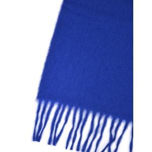 BEGG&CO【ベグ アンド コー】マフラー Arran Plain Sapphire カシミヤ ブルー|cinqueclassico|03