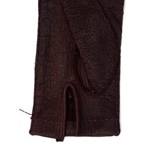 GANTIER CAUSSE【ガンコス/コース】手袋/グローブ H0003 PEC BORDEAUX No lining ボルドー ペッカリー|cinqueclassico|03