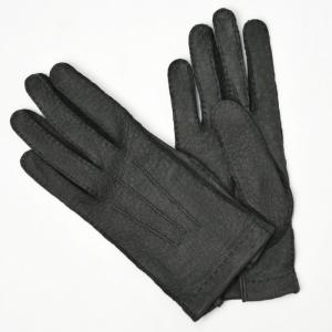 GANTIER CAUSSE【ガンコス/コース】手袋/グローブ H0003 PEC GRAPHITE No lining グレー ペッカリー|cinqueclassico