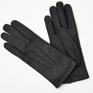 GANTIER CAUSSE【ガンコス/コース】手袋/グローブ H0003 PEC MARINE No lining ネイビー ペッカリー|cinqueclassico