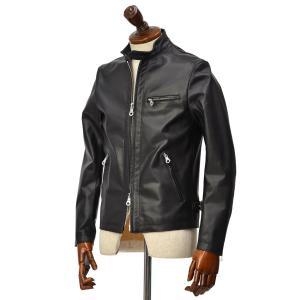 Cinquanta【チンクアンタ】シングルライダースジャケット H502/1 4302 999 NERO ホースレザー ブラック|cinqueclassico