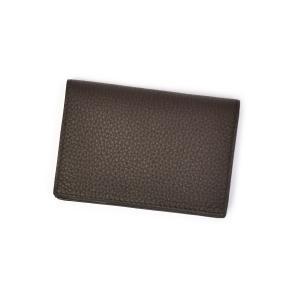 CISEI【チセイ/シセイ】名刺入れ CARD CASE 1021 T.MORO シボ革 ダークブラウン|cinqueclassico