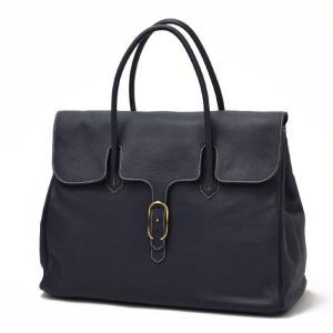 CISEI【チセイ/シセイ】フラップ付きトートバッグ Tote bag 983 LD NAVY シボ革 ネイビー|cinqueclassico