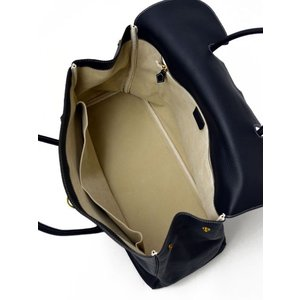 CISEI【チセイ/シセイ】フラップ付きトートバッグ Tote bag 983 LD NAVY シボ革 ネイビー|cinqueclassico|05