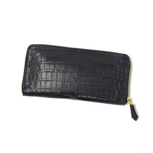 CISEI【チセイ/シセイ】CROCODILE zip wallet NAVY (クロコダイル  ジップウォレット ネイビー)|cinqueclassico