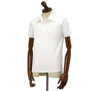Cruciani【クルチアーニ】ニットポロシャツ CU285.GP30 28804  コットン ホワイト|cinqueclassico