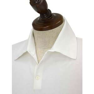 Cruciani【クルチアーニ】ニットポロシャツ CU285.GP30 28804  コットン ホワイト|cinqueclassico|03