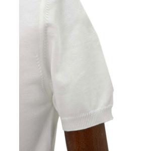 Cruciani【クルチアーニ】ニットポロシャツ CU285.GP30 28804  コットン ホワイト|cinqueclassico|05