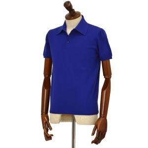 Cruciani【クルチアーニ】ニットポロシャツ CU285.GP30 159BR コットン ブルー|cinqueclassico