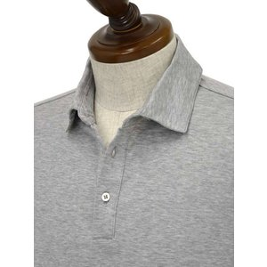 Cruciani【クルチアーニ】ポロシャツ JF826PC GRIGGIO コットン ジャージー グレー|cinqueclassico|03