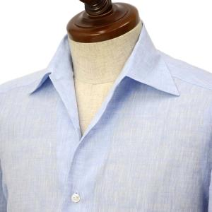 BARBA CULTO【バルバ クルト】イタリアンカラーシャツ IBSPO 2579203U リネン サックス|cinqueclassico