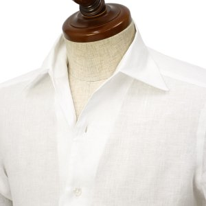 BARBA CULTO【バルバ クルト】イタリアンカラーシャツ IBSPO 2579201U リネン ホワイト|cinqueclassico