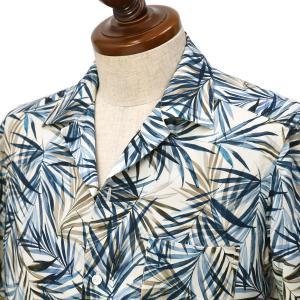 BARBA DANDY LIFE【バルバ ダンディライフ】オープンカラーシャツ PB6643303U レーヨン ボタニカル ホワイト|cinqueclassico