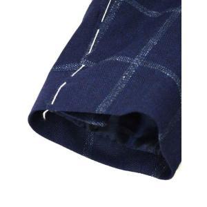 De Petrillo【デ ペトリロ】シングルジャケット  Posillipo TS17082F/226 ビスコース コットン リネン ウィンドペーン ネイビー×ブルー|cinqueclassico|07