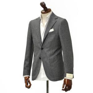 De Petrillo【デ ペトリロ】シングルジャケット Posillipo 26.8506 1 ウール ドリル グレー|cinqueclassico