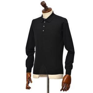 Drumohr【ドルモア】Modern 30ゲージニットポロシャツ D0D145 690 メリノスーパーファインウール140's ブラック|cinqueclassico
