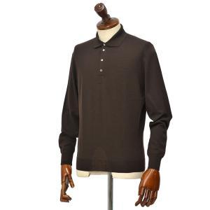 Drumohr【ドルモア】Modern 30ゲージニットポロシャツ D0D145 595 メリノスーパーファインウール140's ブラウン|cinqueclassico