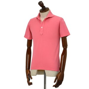 FEDELI【フェデーリ】ポロシャツ UNO JAPAN MM GIZA45 PIQUET DUSTY 831 コットン ピケ ピンク|cinqueclassico