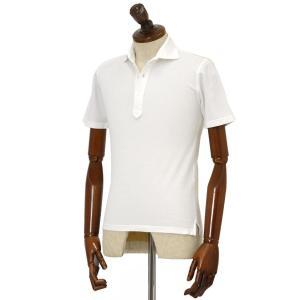 FEDELI【フェデーリ】ポロシャツ UNO JAPAN MM GIZA45 PIQUET DUSTY 41 コットン ピケ ホワイト|cinqueclassico