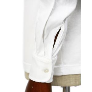 FEDELI【フェデーリ】ワンピースカラーカットソー KIRK M.L. JAPAN JERSEY GIZA 41 コットン ホワイト|cinqueclassico|05