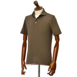 FEDELI【フェデーリ】ポロシャツ ZERO MM. JERSEY GIZA ORGANIC DUSTY 811 コットン ジャージー ブラウン cinqueclassico