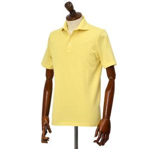 FEDELI【フェデーリ】ポロシャツ ZERO MM. JERSEY GIZA ORGANIC DUSTY 74 コットン ジャージー イエロー cinqueclassico