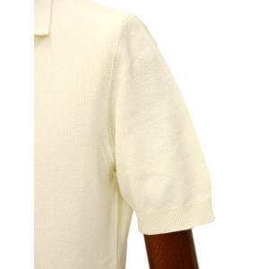 FILIPPO DE LAURENTIIS 【フィリッポ デ ローレンティス】ニットポロシャツ AFA2862555 100 コットン ピケ オフホワイト|cinqueclassico|05