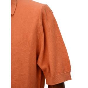 FILIPPO DE LAURENTIIS 【フィリッポ デ ローレンティス】ニットポロシャツ AFA2862555 031 コットン ピケ オレンジ|cinqueclassico|05
