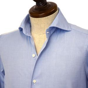 Finamore【フィナモレ】シャツ New Vintage PIERO 840200 6 コットン ツイル ブルー|cinqueclassico