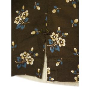 Finamore【フィナモレ】オープンカラーシャツ BART TODDT P9116 02 コットン ボタニカル ブラウン|cinqueclassico|06