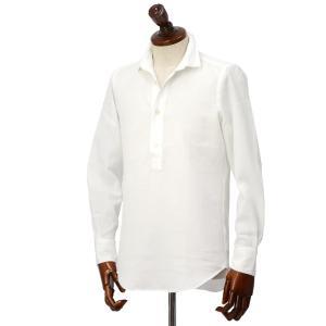 Finamore【フィナモレ】シャツ SILVANO MIAMI9 P9034 01 コットン メッシュ ホワイト|cinqueclassico