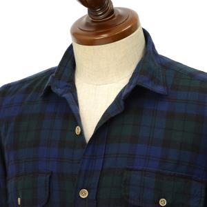 Finamore【フィナモレ】CPOシャツ CLARK A9036 3 コットン ブラックウォッチ|cinqueclassico