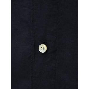 Finamore【フィナモレ】シャツ PIERO 080265 020 コットン リネン ブラック cinqueclassico 04