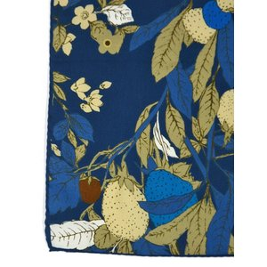 Fumagalli 【フマガリ / フマガッリ】スカーフ/ネッカチーフ ISCHIA 30269 01 コットン シルク ボタニカル ブルー|cinqueclassico|03