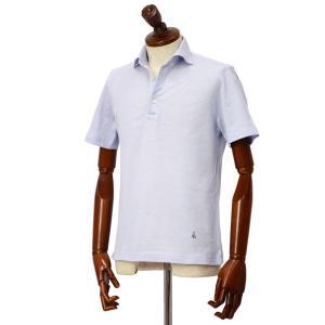 GUY ROVER【ギローバー】 半袖ポロシャツ PC435J 591503 02 鹿の子 ホリゾンタル サックスブルー|cinqueclassico