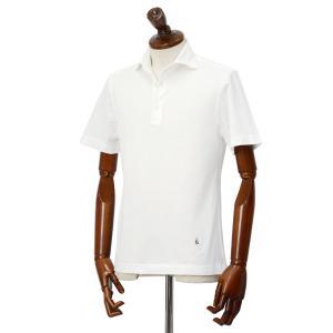 GUY ROVER【ギローバー】 半袖ポロシャツ PC435J 591503 01 鹿の子 ホリゾンタル ホワイト|cinqueclassico