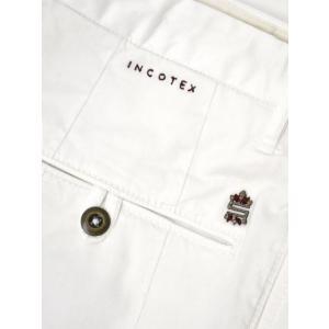 INCOTEX SLACKS【インコテックス スラックス】ワンプリーツパンツ 1ST694 90664 1 コットン ストレッチ ホワイト|cinqueclassico|06