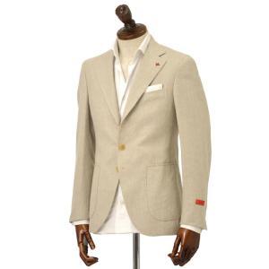 ISAIA【イザイア】 シングルジャケット 86174 310 8C SAILOR  ウール シルク リネン ベージュ|cinqueclassico