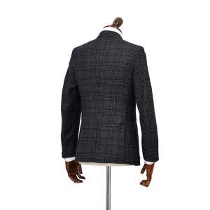 ISAIA【イザイア】 シングルジャケット 8249M 990 8C SAILOR セイラー ウール  グレンチェック グレー|cinqueclassico|02
