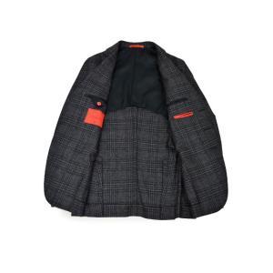 ISAIA【イザイア】 シングルジャケット 8249M 990 8C SAILOR セイラー ウール  グレンチェック グレー|cinqueclassico|03