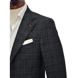 ISAIA【イザイア】 シングルジャケット 8249M 990 8C SAILOR セイラー ウール  グレンチェック グレー|cinqueclassico|04