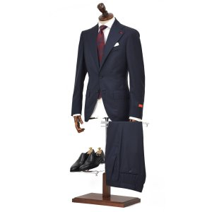 ISAIA【イザイア】シングルスーツ 95026 800 8R MUSA ウール ネイビー|cinqueclassico