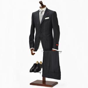 ISAIA【イザイア】シングルスーツ GREGORY 83140  990 ウール ブラックストライプ|cinqueclassico