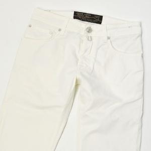 JACOB COHEN【ヤコブコーエン】デニムPW622-08284 004 cotton stretch  WHITE( ホワイト)|cinqueclassico