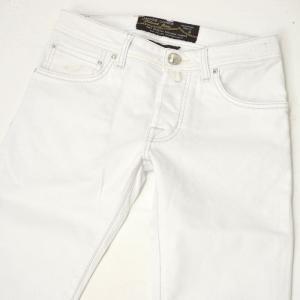 JACOB COHEN【ヤコブコーエン】デニムPW622-08543 001 cotton stretch  WHITE( ホワイト)|cinqueclassico