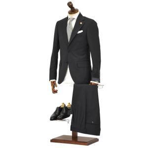 LARDINI【ラルディーニ】シングルスーツ ROW JM47005AQ EERP50490 39 ウール ピンドット チャコールグレー|cinqueclassico