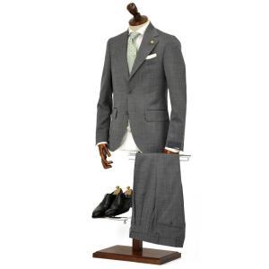 LARDINI【ラルディーニ】シングルスーツ ROW JM47005AQ EERP50490 43 ウール ピンドット グレー|cinqueclassico