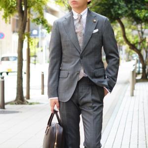 LARDINI【ラルディーニ】シングルスーツ ROW JM47005AQ EERP50490 43 ウール ピンドット グレー|cinqueclassico|11